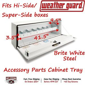 200 3 Weather Guard Steel Tool Box Storage Tray For Hi Side Tool Box