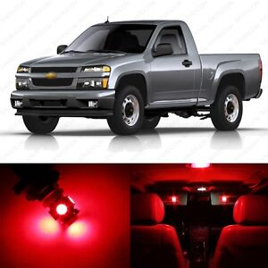 12 X Red Led Interior Light Package For 2004 2012 Chevy Colorado Pry Tool
