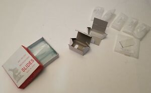 Lot Of Various Microscope Slides And Glass Prism