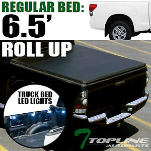 Topline For 2007 2016 Toyota Tundra 6 5 Bed Lock Roll Tonneau Cover Led Light