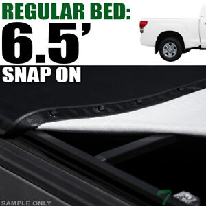 Topline For 2014 2019 Toyota Tundra 6 5 Ft Bed Hidden Snap Vinyl Tonneau Cover