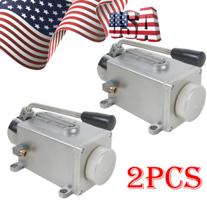 2x Hand Lubrication Oil Pump Application Milling Machine Lubricating Manual New