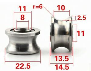 8mm Bore Bearing With 22 5mm Pulley U Groove Track Roller Bearing 8x22 5x13 5mm