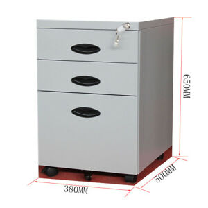 Mobile Rolling File Cabinet Heavy Duty Mobile Storage Filing Cabinet 3 Drawers