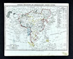 1847 Flemming Map Spread Of Buddhism Asia China Japan Tibet Burma Nepal Siam