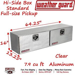 364 0 02 Weather Guard Aluminum Hi Side Box Top Mount 64 Truck Toolbox