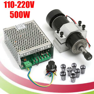 110v 220v Cnc 500w Air Cooling Spindle Motor 52mm Clamps W 7pcs Er11 Collet