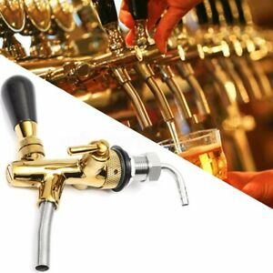 Adjustable Flow Control Draft Beer Tap Faucet G5 8 Long Shank Chrome Kegerator