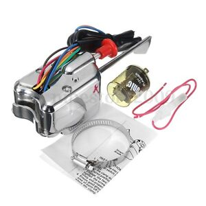 Chrome 12v Universal Street Hot Rod Turn Signal Switch For Ford Gm With Fl