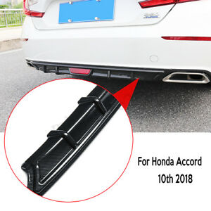 For Honda Accord 10th 2018 Carbon Fiber Pp Rear Bumper Diffuser Lip Spoiler Wing
