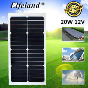 20w 12v Mono Semi flexible Solar Panel For Rv Boat Caravan Battery Charger