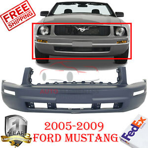 New Primed Front Bumper Cover Replacement For 2005 2009 Ford Mustang Base