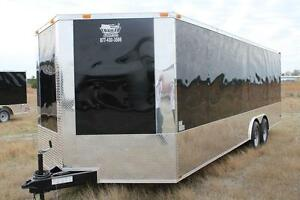 New 2020 8 5 X 24 8 5x24 Enclosed Race Cargo Car Hauler Trailer Loaded