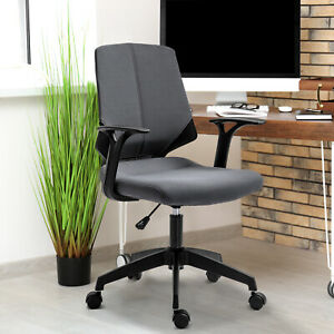 Midback Home Office Chair Mesh Executive Task Gaming Seat 360 Swivel grey