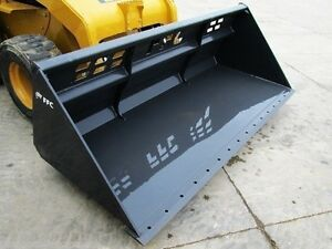 96 Medium Duty Snow Bucket Ffc Bradco 1 70 Cu Yd Fits All Brands Skid Steer