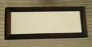 Vintage Simple Americana Art Crafts Mission Oak Picture Frame Soot Finish 4 X 12