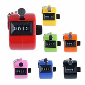 4 Digit Lcd Mechanical Counter Hand Tally Number Manual Palm clicker Counting Us