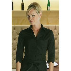 Chef Works Wa34 blk m Women s Finesse Fitted Shirt m