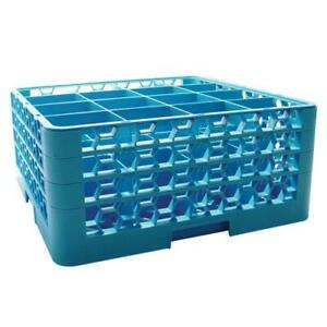 Carlisle Rg16 314 16 Compartment Opticlean Glass Rack And Extenders