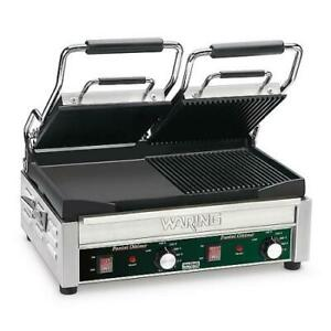 Waring Wdg300 Dual Surface Double Panini Press Sandwich Grill