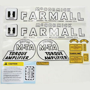 Complete Decal Set For Farmall Tractors Mta Super Mta