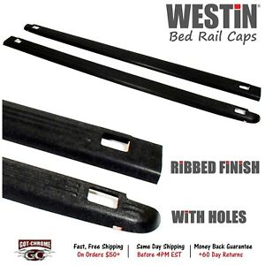 72 01411 Westin Black Bed Rail Caps Dodge Ram 6 4 Bed 1994 2001