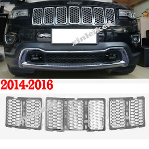 Honeycomb Front Grille Car Grill Mesh Inserts For Jeep Grand Cherokee 2014 16