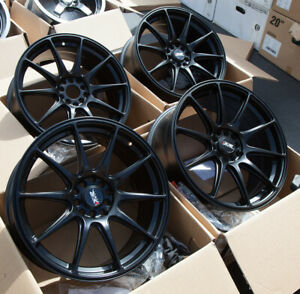 Used 18x8 Xxr 527 5x100 114 3 42 Black Rims Fits Wrx Frs Civic Tsx Accord Rx8