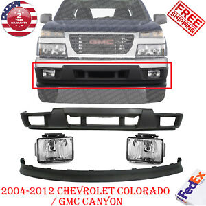 Lower Front Bumper Valance Kit W Fog Lights For 04 12 Gmc Canyon Chevy Colorado