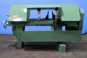 16 W 9 H Kalamazoo H9ad Horizontal Band Saw 1 Blade 1 Hp Vise