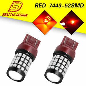 2x 7443 7440 Tail Brake Stop Backup Reverse Car Led Light Bulbs 2835 3030 12 24v