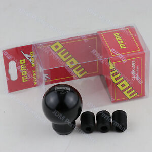 Racing Black Aluminium Universal Shift Knob Round Shifter Lever Knob For Momo