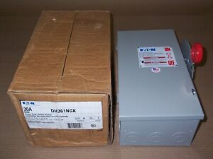 New Eaton Dh361ngk 30 Amp 600v Fusible 3ph Type 1 Safety Switch Disconnect
