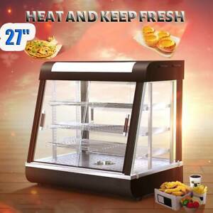 3 Tiers Commercial Food Pizza Warmer Cabinet Countertop Heated Display Case Usa
