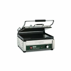 Large Flat Panini Grill Italian style Tostato Supremo 120v Waring Wfg250