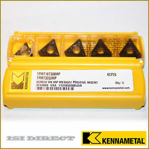 Tpmt 16 T3 08mp Kcp25 Kennametal 10 Inserts Factory Pack