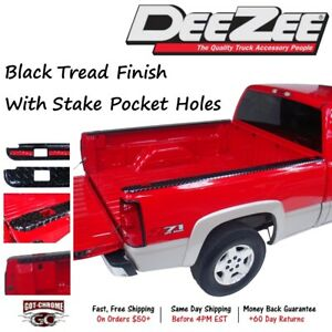 Dz31983b Dee Zee Black Aluminum Bed Rail Caps Dodge Ram 8 Bed 2002 2008