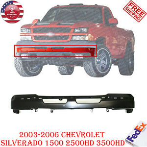 Front Bumper Primed Steel For 2003 2006 Chevrolet Silverado 1500 2500hd 3500