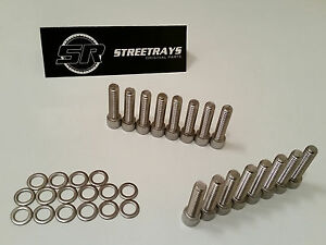 sr Bbc 3 8 Stainless Steel Bolt Set For Aluminum Intake Manifold 1 50 Inch