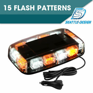 30w White Amber 36 Led Emergency Warning Flash Roof Top Led Strobe Light Bar 12v