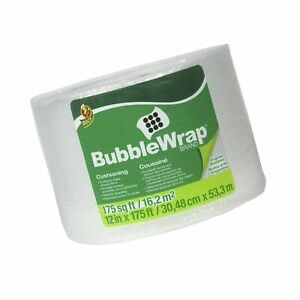 Duck Brand Bubble Wrap Original Cushioning 12 inches X 175 feet Single Roll