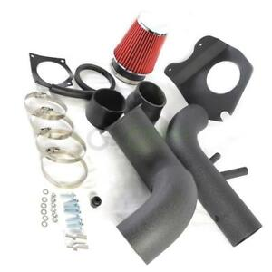96 04 4 6l Black Piping Cold Air Intake Induction Red Filter For Ford Mustang