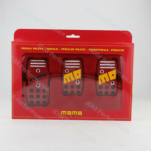Momo R3000 Red Pedals Jdm Manual Accelerator Pedals Brake Pedal Clutch Pedals
