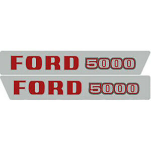 High Quality 5000 Ford Tractor Hood Decal Kit
