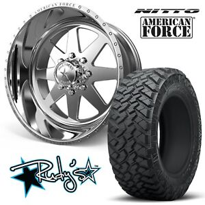 4 22x10 American Force Ss8 Independence Wheels 33 Nitto Trail Grappler Tires