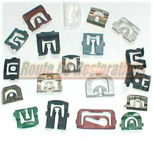 66 67 68 69 Ford T Bird Thunderbird Windshield Moulding Clips Fasteners