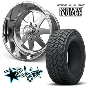 4 22x12 American Force Ss8 Independence Wheels 35 Nitto Trail Grappler Tires
