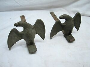 Pair Vintage Nos Brass Eagle Snow Bird Stops Roof Architectural Ice Guard