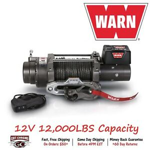 97720 Warn M12 S Vehicle Mounted Recovery Winch 12v 12000lb Pull 100 Synthetic