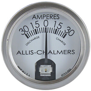 Amp Gauge For Allis Chalmers D1 D12 D14 D17 D15 D19 D21 B C Ca G Wc Wd 190xt